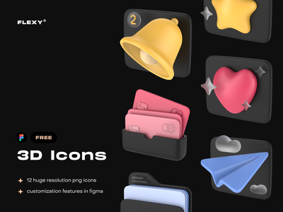 3D variations of popular icons security icon security clock icon clock folder icon folder messenger icon messenger message icon notification icon notification iconography icon design icon set icon icons 3d icons 3d artist 3d art 3d