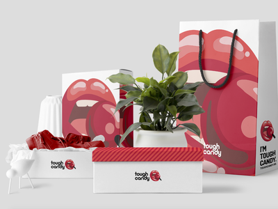Tough Candy candy tshirts fashion branding concept packaging logo branding typography identity
