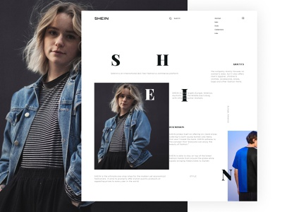 SHEIN / Full case on Behance shopping white ui branding logo interface shapes promotional design site promo ux ui webdesign website web store shop ecommerce