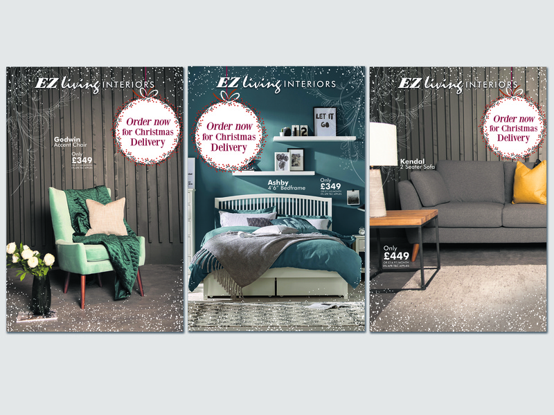 Christmas Poster delivery trends season christmas sofia promo arvanius promotional graphic design branding promotion campaign advertising sale ireland marketing poster furniture