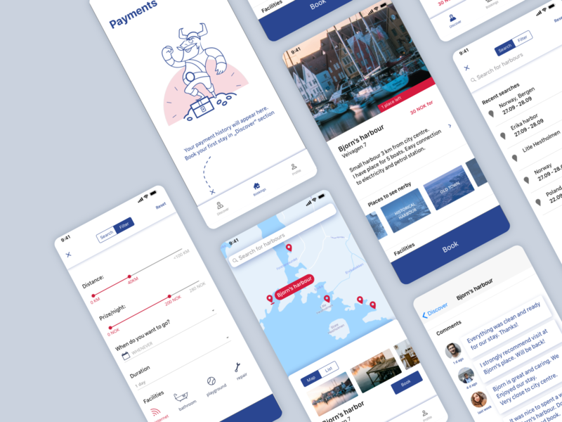Harbor booking app concept