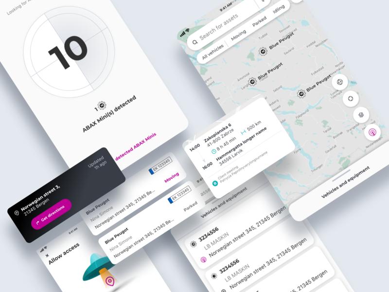Admin App UI tracking app car map design system mobile app app ui