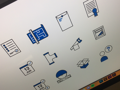 Little WIP from a small icon set! Still early stages. wip set illustration pictograms icons