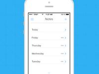 IOS 7 Notes App