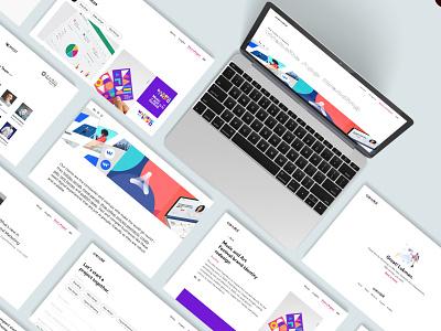 Credot Web landing page website flat minimal icon branding design adobe xd web illustration ui