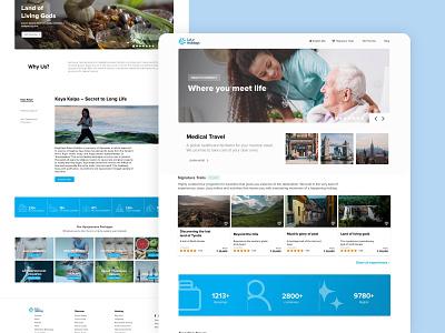 Medical tourism web landing page attendance illustration website design layout landing page minimal adobe xd web ux ui