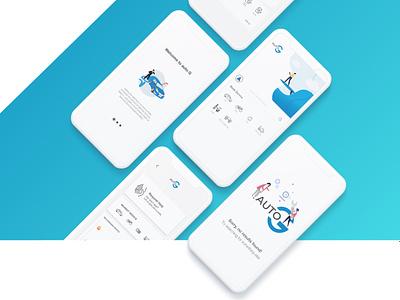AUTOG App UI/UX design web app branding ux ui illustration