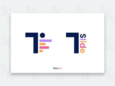 Official Taleslide Logo website web app branding design illustration logo