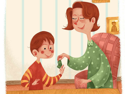 Happy Mother's Day mothers day illustration