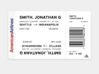 Daily UI - Day 24 - Boarding Pass