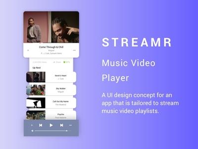 Music Video Player App