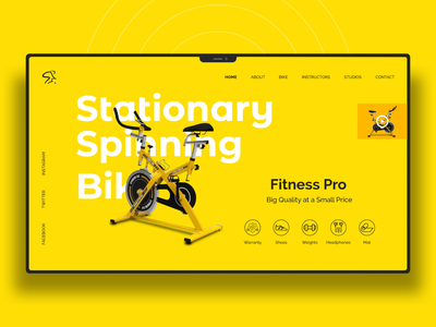 Spinning Bike Website Design