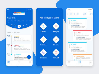 Patients Medical Record App location uidesign disease medical records year month date ios apple database health doctor hospital mobile app design user experience user interface ux ui