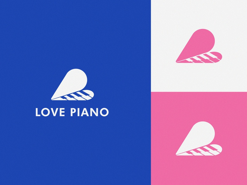 Love Piano Brand Identity grid symbol mark brand design branding minimalist logo illustration music player heart logo piano logo love logo love piano jazz band music apps music creative creative logo logotype logodesign logo