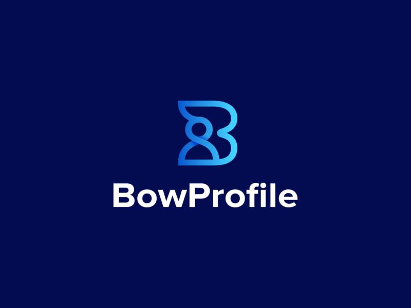 BowProfile Brand identity Design medical app coronavirus job finder profile logo symbol smart logo mark brand and identity brand consulting logo target business logo job logo bow profiles typography branding creative logo creative logodesign logo