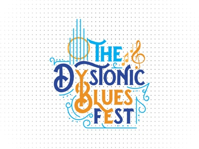 The Dystonic Blues Fest minimalist logo old people human rights wellness concert vintage logo music logo music poster blues music flyer design banner design festival poster logos fest blues dystonic creative logo creative logodesign logo
