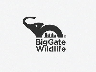 BigGate Wildlife Logo nature illustration big animal safari park mountain logo african logo safari logo wild logo bigfoot minimal logo animal save logo animal logo wildlife logo elephant logo nature logo branding creative logo creative logodesign logo