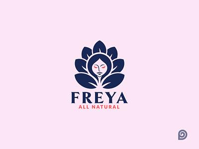 Freya Natural Beauty Logo creative design designollo logo creative brand logo mimimal logo cute logo leaf logo natural logo freya beauty logo wellness care beauty illustration creative logo logodesign branding logo