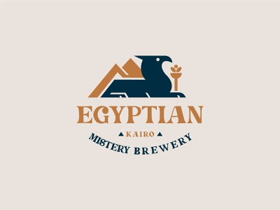 Egyptian Brewerey Logo logodesign logotype identity creative logo creative logo design best designs history logo minimal logo brewery logo pyramid egypt logo 3d ui logo branding motion graphics animation graphic design