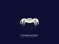 Golden Ratio Crab Logo design