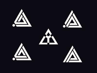 Triangle Letter Design