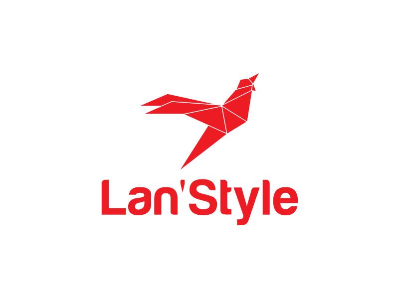 Lan'Style winglogo wings flying logo flying clothlogo brand birdlogo logotype creative logodesinger typography identity branding design logodesign logo