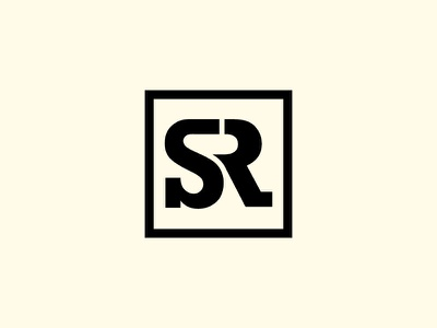 SR Monogram rs logo creative logo slab sr logos logo mark mark letters sr logo sr monogram icon graphic logotype creative branding design logodesign logo