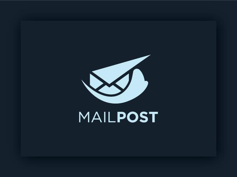 Mailpost professonal unique minimal post office post logo mail post logo telephone letter mail post mail creative identity graphic typography logotype branding design logodesign logo