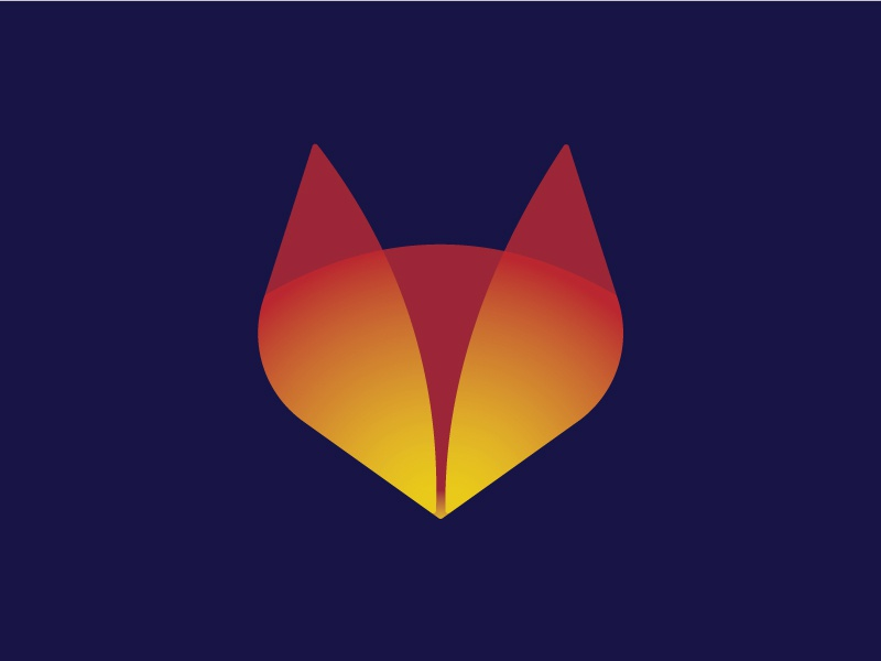 Fox Minimal business logo web logo minimal logo shape golden ration gradient fox logo wild logo animal natural logo fox app logo app icon icon branding typography creative logotype logodesign logo