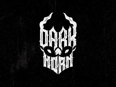 DARK HORN creative logo handmade logo gothic logo dark horn logo horn logo dark logo dead logo mascot logo skull logo identity icon logos branding logotype typography graphic creative design logodesign logo