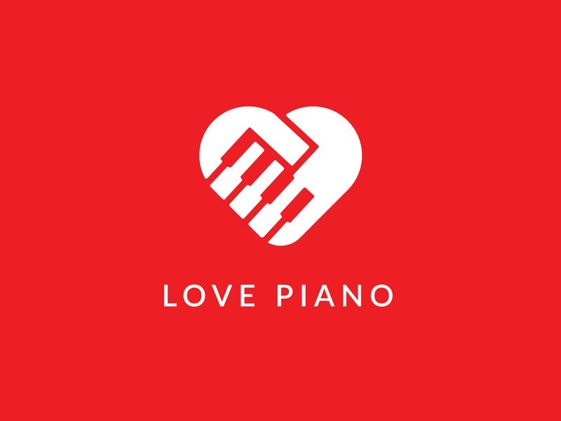 Love Piano Logo grid logo streaming app animations music apps music logo piano logo logos creative logo icon identity creative branding design logodesign logo