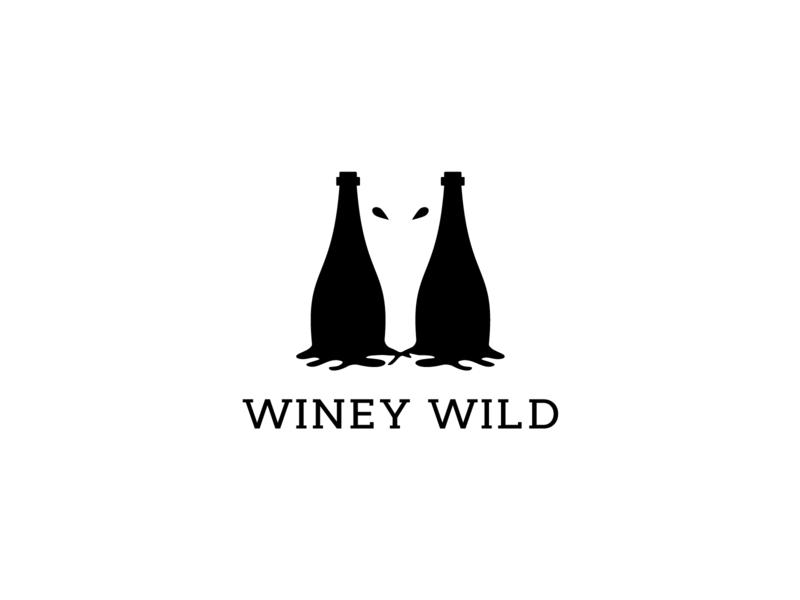 Winey Wild brand identity corporate logo lake logo wild nature logo horse logo bulls logo wild logo winey logo wine logo minimalist logo creative logo illustration icon logodesinger design creative typography branding logodesign logo