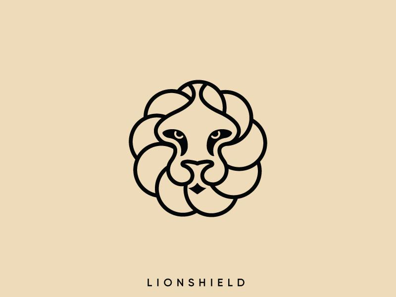 Lion shield lion head shield logo black logo king lion logo forest logo wild logo king logo lion logo illustration creative logo typography creative logotype design branding logodesign