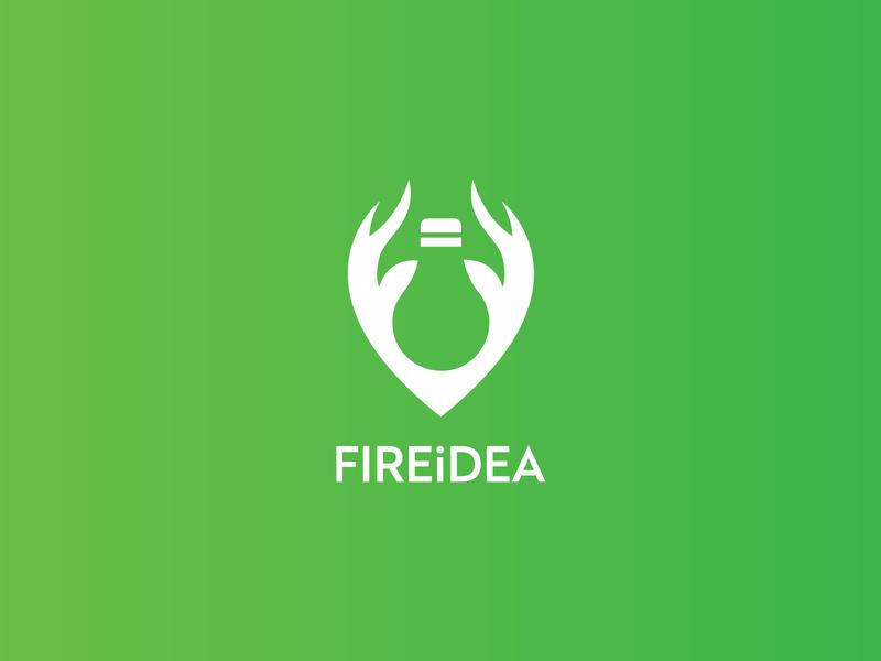 Fireidea wild logo nature wood fire work steel logo creative logos hand logo bulb logo idea logo fire logo creative logo logotype creative identity branding design logodesign logo