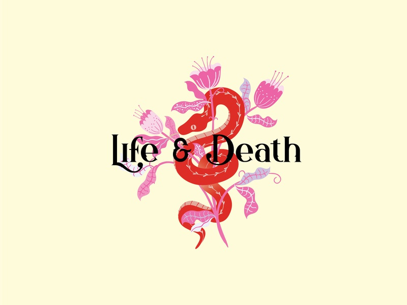 Life & Death animal forest death venom life and death plant flower snake graphic logotype typography creative logo illustration identity creative design logodesign logo