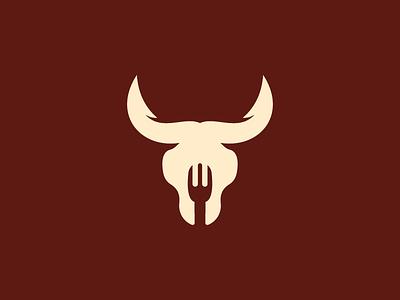Bull Food restaurant logo meat logo food logo eat logo animal bull power bull logo company logo business logo gothic logo dark logo polygon logo identity typography illustration creative logo logotype creative branding logodesign
