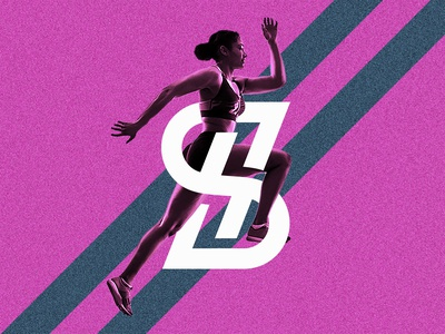 SH logo with Running Woman