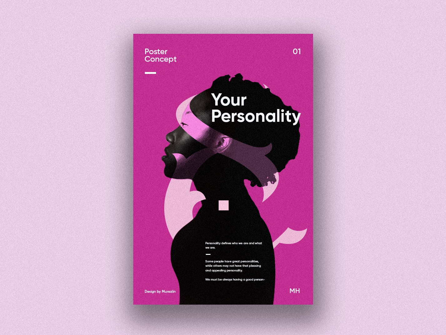 Your Personality Poster Design business logo creative logotype graphic identity modern logo geometric typography vector fashion design high style woman face illustrations webdesign poster design creative logo design branding logodesign logo