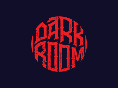 Dark Room typography logo