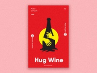 Hug Wine Poster design