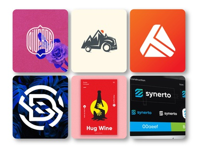 July most popular dribbble shots / logos