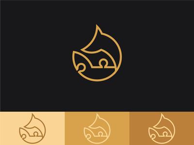 Side Piece puzzles logo concept 2
