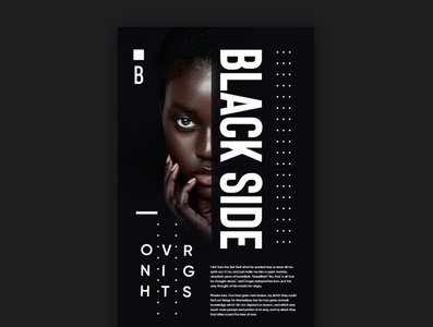 Black Side Poster design