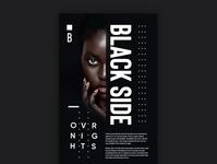 Black Side Poster design