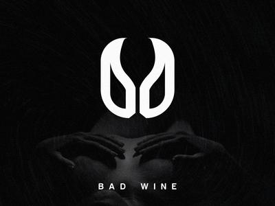 Bad Wine logo design