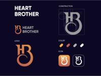 HB Heart Brother logo design