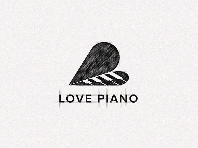 Love Piano Sketch minimalist logo design minimalist logo ui design music bar logo jazz music logo sketches key logo heart logo bar logo band logo jazz logo piano logo love logo love piano logo music logo branding creative logo logotype logodesign logo