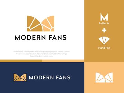 MODERN FANS LOGO logotypes brand business logo orange logo logo design creative logosketch animations modern logo m logo m hand fan logo minimalist logo logobook logodaily branding creative logo logotype logodesign logo