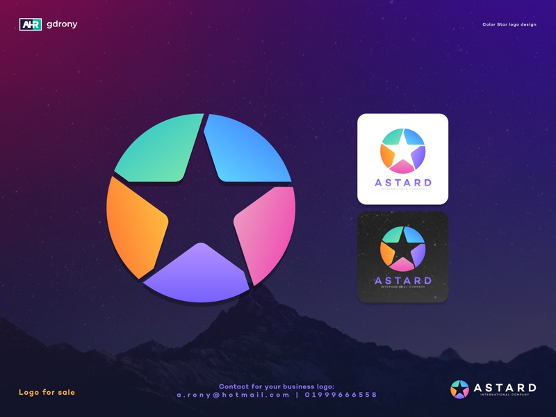 Star Logo branding ui app graphic design company logo stars modern creative colorful star logo design star logo sky moon design logo star
