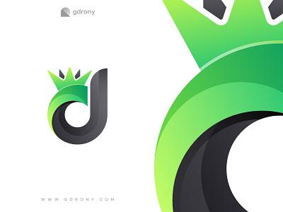 Crown with d letter logo design shop business icon design logo design logo graphic design company logo pro crown modern color initial letter dd d